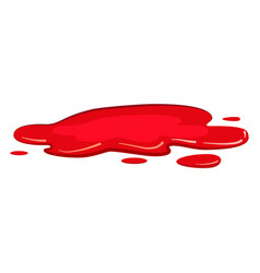Puddle blood liquid pool plash cartoon vector