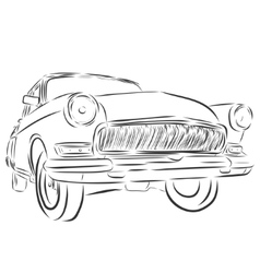 Retro car or Vintage on a white background vector
