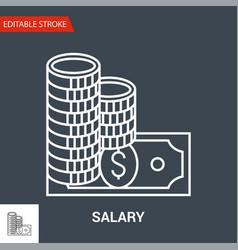 salary icon thin line vector image