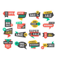 sale badges advertising promo labels offers and vector image
