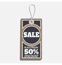 Sale tag design on the theme of black friday sale vector