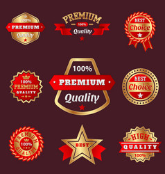 set of badges shop product sale best price vector image
