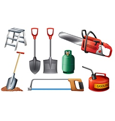 Set of important tools vector image