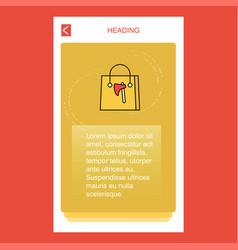 shopping bag mobile vertical banner design design vector image