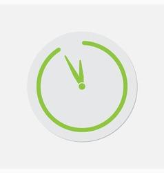 Simple green icon - last minute clock vector
