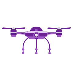 single drone quadcopter with camera vector image