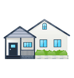 single house with gray roof vector image