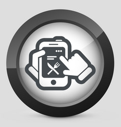 Smartphone icon food restaurant and recipes vector