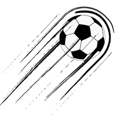 Soccer ball with trail vector