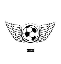 Soccer heraldic icon vector image