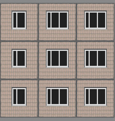 soviet architecture beige panel house pattern vector image