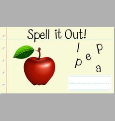 Spell english word apple vector