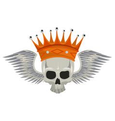 Tattoo skull drawing vector