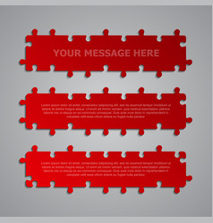 The pieces puzzle signboard story board banner vector