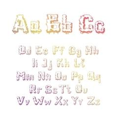 Trees alphabet vector