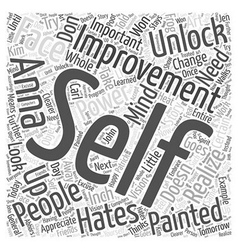 Unlock your self improvement power Word Cloud vector