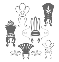Vintage furniture symbols vector