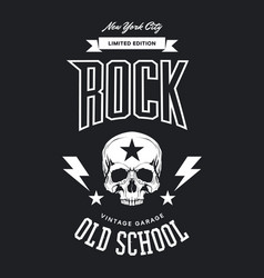 Vintage rock t-shirt logo vector
