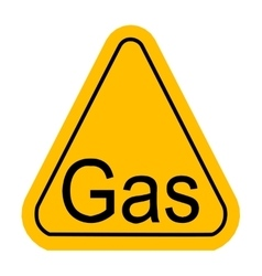 Warning icon of Gas in yellow triangle vector image