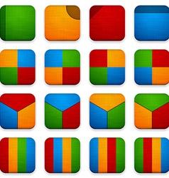 Web linen app icons vector