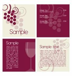 Wine brochure vector