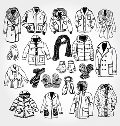 Winter clothes vector