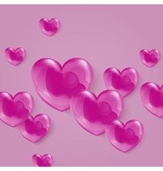 a bright shiny pink polka vector image vector image