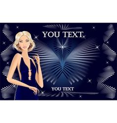 beautiful blond girl vector image
