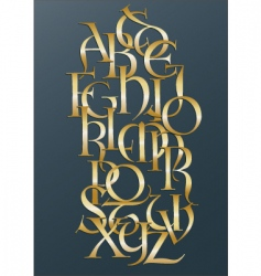 golden Lombard alphabet vector image vector image