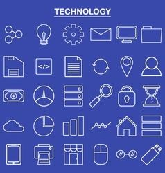 Linear technology icon for website and app vector image vector image