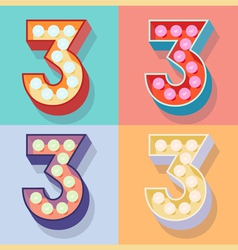 Number 3 vector image