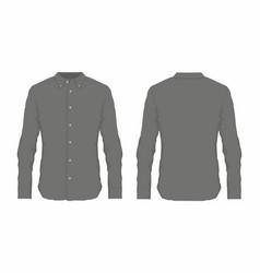 mens black dress shirt vector image