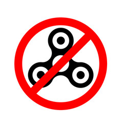 prohibition sign ban spinner vector image