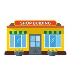 Shop buildings vector image