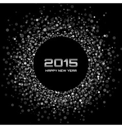 White - Black New Year 2015 Background vector image vector image