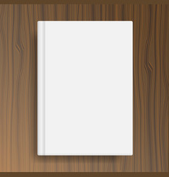 book cover template on wood texture table vector image