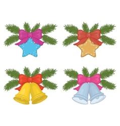 christmas decorations set vector image