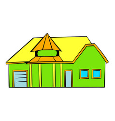 green cottage icon icon cartoon vector image