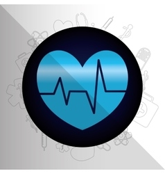 Medical healthcare round icon vector image
