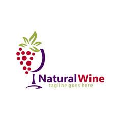 natural wine abstract logo vector image