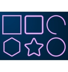 a set neon figures vector image