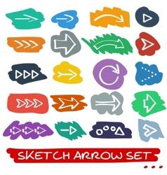 Sketch arrow set vector image