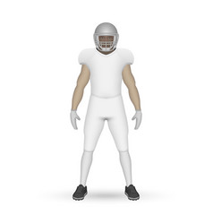 3d realistic american football player vector
