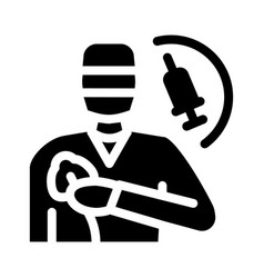 Anesthesiologist medical worker icon glyph vector