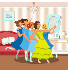 bachelorette party flat vector image