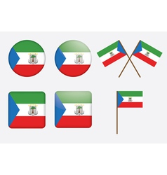 badges with flag of Equatorial Guinea vector image vector image
