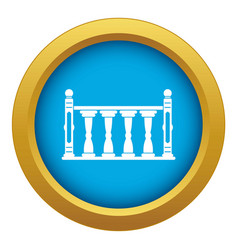 Balustrade icon blue isolated vector