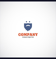 Beard man company logo vector