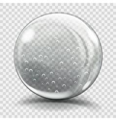 Big gray glass sphere vector image