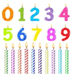 birthday candles different form vector image